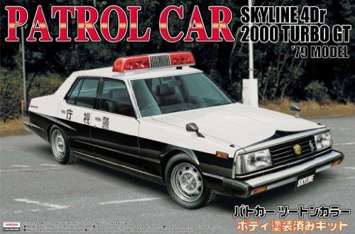 1/24 塗装済パトロールカー No.08 ジャパン4Dr 後期型 無線警ら仕様