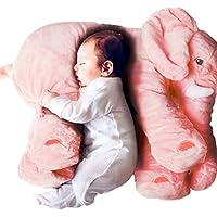 リアルぬいぐるみ アフリカゾウ/象 特大 インテリア キッズ子供 おもちゃ 動物 ぬいぐるみ 58cm (ピンク)