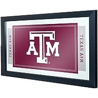 テキサスA&M大学のロゴとマスコット入り鏡
