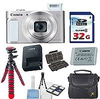 Canon PowerShot SX620 HS デジタルカメラ (シルバー) 32GB 高速メモリカード+デラックスカメラケース+フレキシブルスパイダー三脚+スターターキット&デラックスアクセサリーバンドル