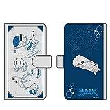 HAKUBA キャラモード 宇宙戦艦ティラミス シルエット 手帳型マルチスマートフォンケース カード収納 iPhone & Android 両対応 スマホカバー ケース 4977187198904 PA-SPC8904