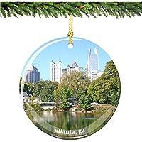 Atlantaクリスマスオーナメント、磁器2.75