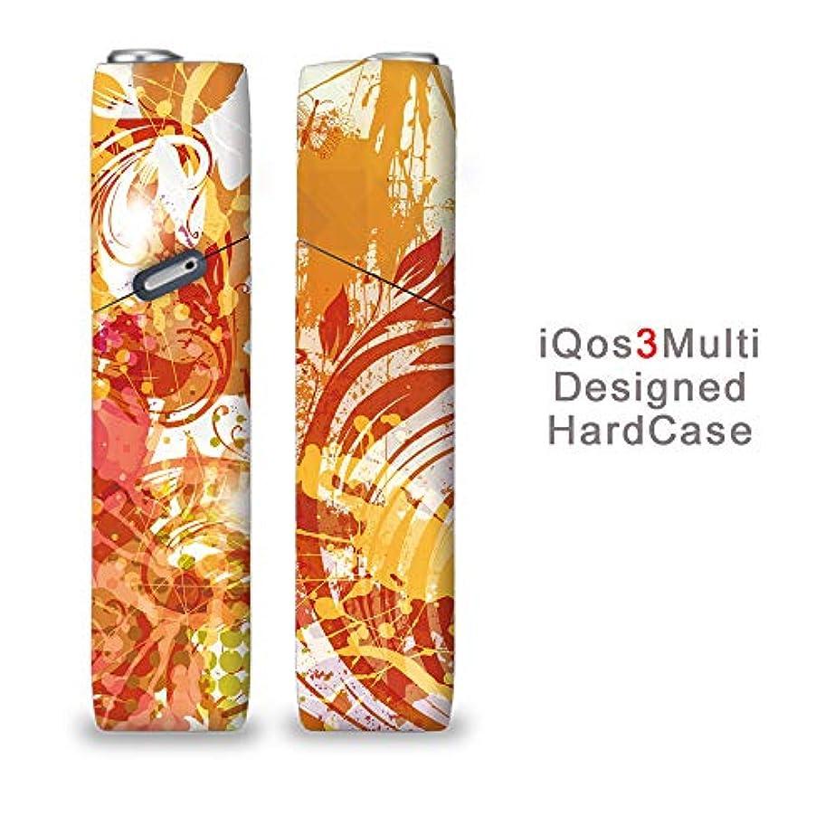 義務づける一緒ミリメートル完全国内受注生産 iQOS3マルチ用 アイコス3マルチ用 熱転写全面印刷 花 フラワー 加熱式タバコ 電子タバコ 禁煙サポート アクセサリー プラスティックケース ハードケース 日本製