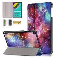 Dteck 二つ折りケース Samsung Galaxy Tab S5e 10.5 2019 T720 T725 - 軽量三つ折りスタンドカバー 自動スリープ/ウェイク機能付き スリムシェル Galaxy Tab S5e タブレット SM-T720(Wi-Fi)/ SM-T725(LTE) 2019リリース用