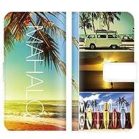 【 iris 】 手帳型ケース 全機種対応 【 DIGNO ISW11K ディグノ ISW11K専用 】 ハワイアン ハワイ おしゃれ surf 海外 デザイン aloha ブック型 二つ折り レザー 手帳カバー スマホケース スマートフォン