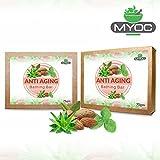 Aloe vera, Basil, Almond oil, Avocado oil, Eveneing Primrose, Vitamin E and Glycerine soap for glowing skin. Rejuvenates...