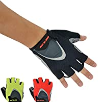 GUB 1093 5mm Gel Pad Cycling Gloves Men Bicycle Gloves Half Finger Gel Padded Breathable Sports Bicycle Gloves BLACK Size S