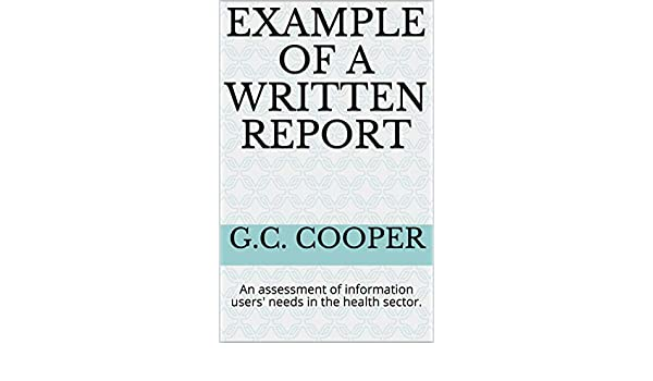 amazon co jp example of a written report an assessment of