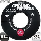 "OMG! ""THE GROUND RIPPERS"" スケートボード スケボー 54mm 85A ソフトウィール ブラック クルージング《4個1セット》"