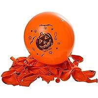 FenicalハロウィンバルーンパンプキンスターBatプリントパーティーバルーンハロウィンデコレーション用(オレンジ) 100個