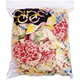 パーティー 飾り バルーン 風船 可愛い 白い 図案5種 一種20個入り 計100個セット
