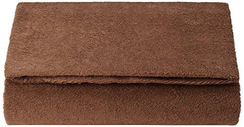いろどりSTREET 敷き布団カバー 和式用 フィットシーツ シングル 抗菌防臭加工付き ブラウン パイル 綿 100%
