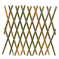 JIANFEI 木製 ボーダーフェンス竹製フェンス 庭の装飾 拡張可能 天然竹 手作り 防水 、4つのサイズ (Color : Green, Size : 90x180cm)