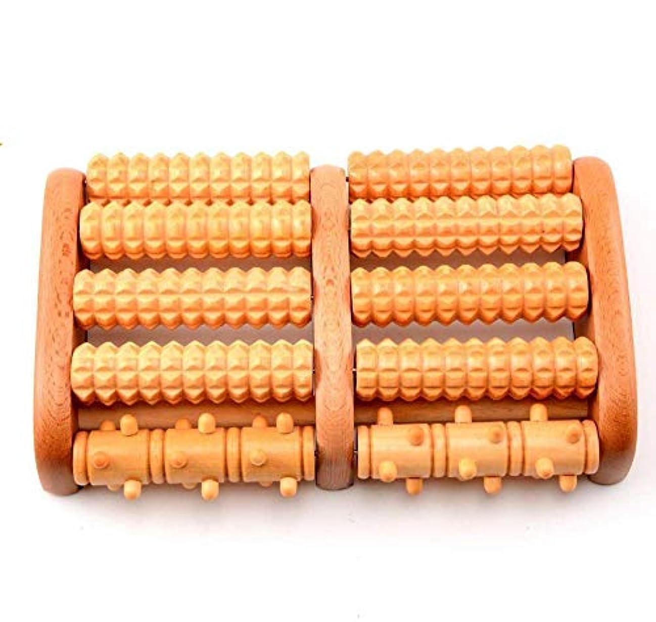 ナプキン部門拮抗するフットマッサージローラー、デュアルフットマッサージローラー木製の癒しの足平アーチの痛み,Ccc