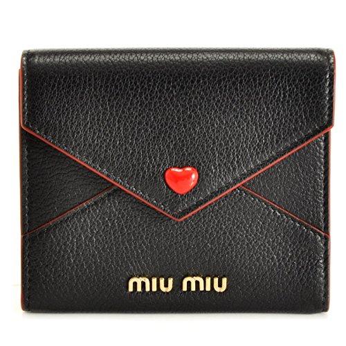 MIUMIU(ミュウミュウ) ミニ財布 マドラス 三つ折り財布 5MH014 2BC3 002 [並行輸入品]