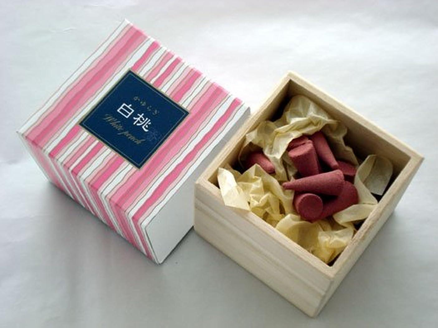 満員契約する刺繍かゆらぎ 白桃(はくとう) コーン型