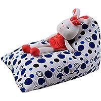 Bestpriceam Kids Stuffed Animal Plush ToyストレージBeanバッグソフトポーチストライプファブリック椅子