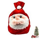 SOMAN クリスマス 袋 サンタクロース サンタさんの袋 クリスマスラッピング サンタのプレゼント袋 サンタ袋 (S)