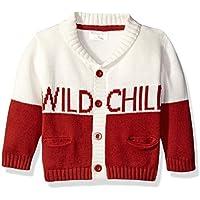 Rosie Pope Little Boys Wild Child Cardigan Red Ochre 12 Months [並行輸入品]