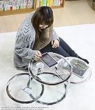 テーブル GT-45 クリア ガラステーブル 透明 直径45 ガラス製 ディスプレイ 棚付き 丸い S2