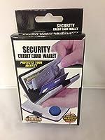セキュリティクレジットカードアルミニウムウォレットスキャンProofブルー