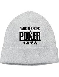 SmokyBird ニットキャップ ニット帽 ビーニー 防寒 ワッチ CAP ポーカーゲーム ラッキー 運勢 プレイヤー 格好いい試合 頭脳戦