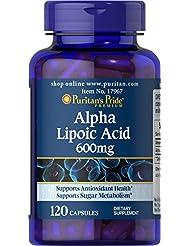 ピューリタンズプライド(Puritan's Pride) アルファリポ酸 600 mg.カプセル
