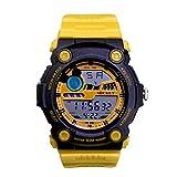 ディズニー ミッキーマウス ウォッチ ディズニー 腕時計 レディース キッズ メンズ WATCH Disney イエロー×イエロー ミッキー デジタル 時計 ラバーベルト ディズニー 腕時計 50M防水 ミッキー [並行輸入品]