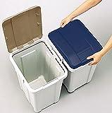 アスベル カラーで分別 連結できる丈夫なふた付きゴミ箱 分別ダストボックス3個セット(33L・33L・27L) 画像