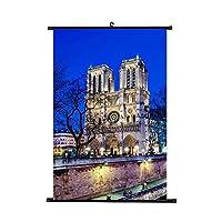 ノートルダム・ド・パリパターン ぶら下げ絵画 絵 フランスの風景画