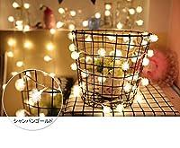 LEDイルミネーションライト 100球10m インテリアライト ストリングライト クリスマス 飾り 防水 屋外対応 8つ点灯パターン (シャンパンゴールド)