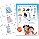 Clothes Flashcards in German Language - Flash Cards with Matching Bingo Game for Toddlers, Kids, Children and Adults - Size 4.13 × 5.83 in - DIN A6