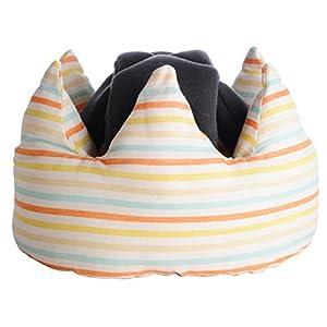 angerolux アンジェロラックス ハイハイヨチヨチ専用 Crown クラウン Baby Helmet ベビー ヘルメット 【日本製】 Yellow Border イエロー ボーダー