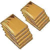 YOURJOY エマージェンシーシート 軽量 サバイバルシート アウトドア 防災 アルミシート 避難用品 130x200センチ 10枚セット ゴールド