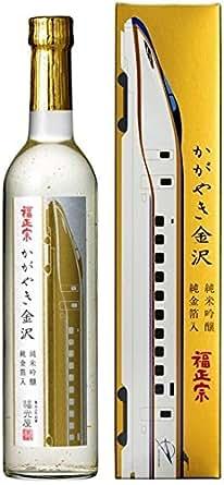 福正宗 かがやき金沢 純米吟醸 純金箔入 瓶 箱入 500ml: 食品・飲料・お酒