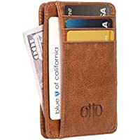 Otto Genuine Leather Wallet |Bank Cards, Money, Driver's License| - Unisex