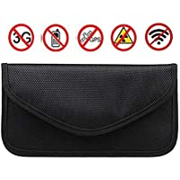 RFID Blocking Mobile Phone Holder Anti-Tracking Anti-Spying GPS RFID Signal Blocker Pouch Case Bag Handset Function Bag (Black)