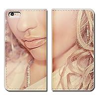 (ティアラ) Tiara iPhone8 Plus 5.5 iPhone8Plus スマホケース 手帳型 ベルトなし PHOTO 女性 セクシー 唇 手帳ケース カバー バンドなし マグネット式 バンドレス EB185040098204
