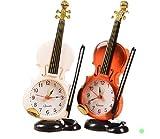 (ライフスター)Lifestr バイオリン 目覚まし時計 テーブルクロック(オリジナルエコバッグセット)