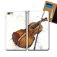 iPhone6 (4.7) iPhone6 ケース スマホケース 手帳型 ベルトなし 音楽 楽器 音符 バイオリン 手帳ケース カバー バンドなし マグネット式 バンドレス EB304040070101