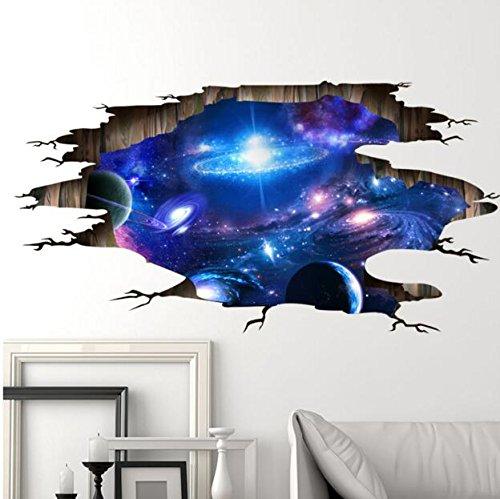ウォール ステッカー Wall stickers 銀河 宇宙 ユニーク 3d オリジナル 貼ってはがせる 大きめさのサイズ