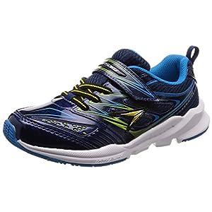 [シュンソク] 運動靴 通学履き 瞬足 幅広 衝撃吸収 高反発 20~25cm キッズ 男の子 ネイビー 24.5 cm 3E