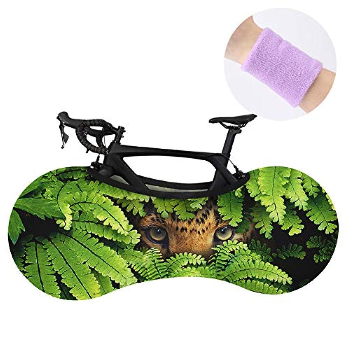 類似性正規化パトロールMTBロードバイクベルト手首タオル用ポリエステル自転車のホイールカバー洗える弾性保護具タイヤパッケージ
