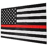 Ungfu Mall バナー 細い赤線 ストライプ アメリカ 旗 尊敬と名誉 バナー 法執行機関 グロメット