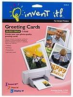 Invent It 。4つ折り光沢仕上げグリーティングカード