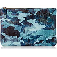DAY FIVE STUDIOS Women's CAMO POUCH, Blue, Large
