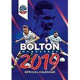 Bolton Wanderers Official 2019 Calendar - A3 Wall Calendar