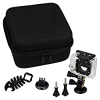 Fotodiox GoTough CamCase Double Black Kit with Carrying Case and Metal Accessories for Two GoPro Hero Cameras - 9 Piece [並行輸入品]