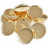 手作り工房 MY mama セッティング台座 10個 ゴールド ヘアゴムやブレスレットに レジン用 ヘアゴム (25mm) 0016-25