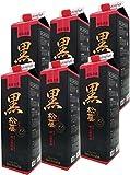 お得な 泡盛 黒の松藤 1800ml 紙パック 6本セット